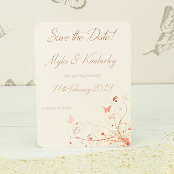Personalised Wonderland Save The Date Card