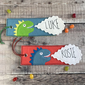 Personalised Children's Dinosaur Bookmark