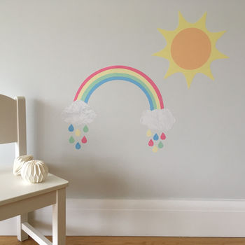 Pastel Rainbow And Sun Wall Stickers