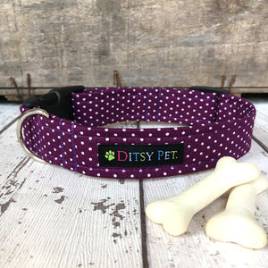 Berry Purple Dog Collar - dog collars
