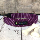 Berry Purple Dog Collar