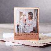 Personalised Solid Copper Polaroid Print - mother's day