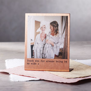 Personalised Solid Copper Polaroid Print - best gifts for fathers