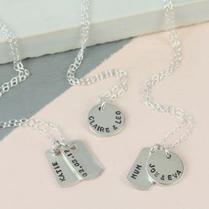 Personalised Sterling Silver Tiny Tag Necklace