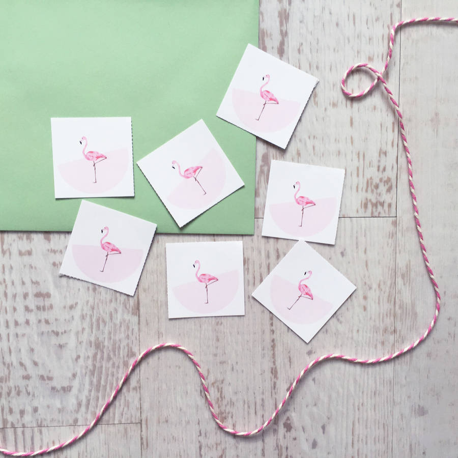flamingo wedding table numbers by love paper wishes ...
