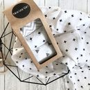 Muslin Square Set With Wooden Teething Rings