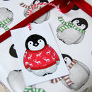 Cosy Penguin In Jumper Gift Wrap