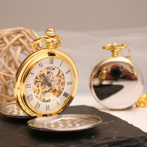 Personalised Silver And Gold Pocket Watch