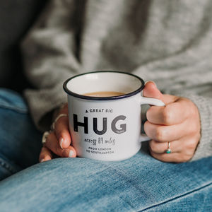 Personalised 'Hug Across The Miles' Ceramic Mug - our top new picks