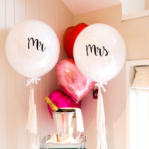 Personalised Wedding Mr And Mrs Tassel Balloon - balloons