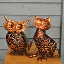 Owl And Pussycat Silhouette Garden Lights