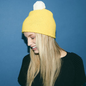 Chunky Knit Beanie Yellow