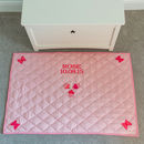 Children's Pink Butterfly And Cupcake Floor Mat