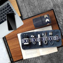 Leather Tech Roll + Mobile Accessories Optnl, Blue