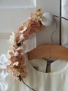 Blush Hydrangea Coronet - hats & fascinators