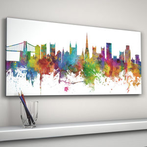 Bristol England City Skyline - prints & art sale