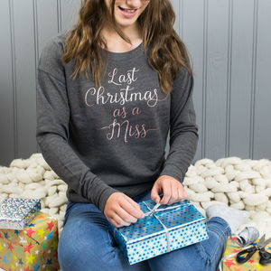 Last Christmas As A Miss Rose Gold Xmas Jumper - new in christmas