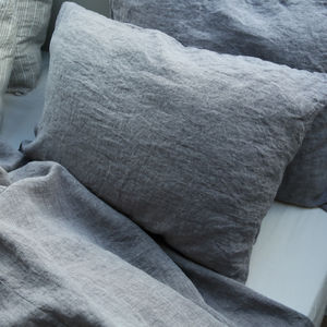 Rabbit Stone Washed Melange Bed Linen Pillow Case