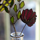 Red Clover Stained Glass Flower