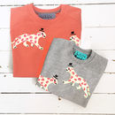 Mum Leopard Matching Child/Baby Sweatshirt Set