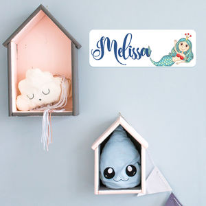 Personalised Mermaid Bedroom Door Plaque