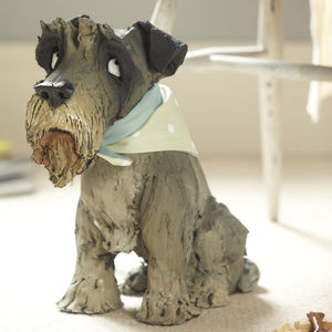 Bespoke Pet Dog Sculpture By Olivia Brown Schnauzer Xl - pet-lover