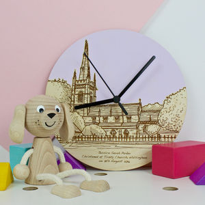 Bespoke Christening Venue Wall Clocks - bedroom