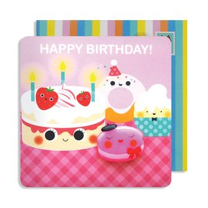 Birthday Cake Jelly Magnet Card
