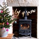 Let It Snow Christmas Garland Decoration