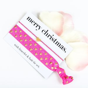 Merry Christmas Wish Bracelet And Hair Tie Gift Set - winter sale