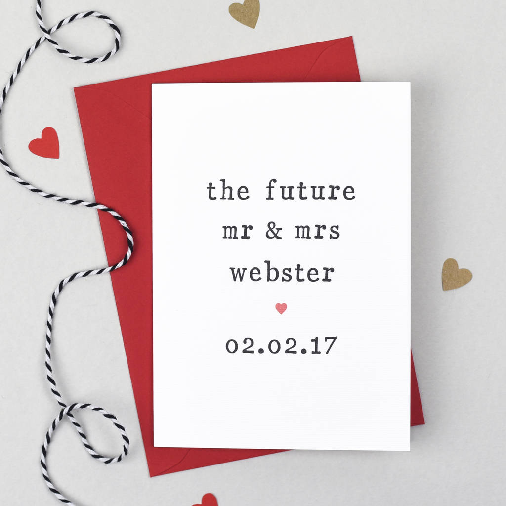 Personalised 'The Future' Engagement Card