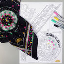 Cactus Print Silk Scarf Colouring Kit