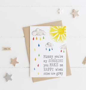 Mummy Sunshine Card - birthday cards