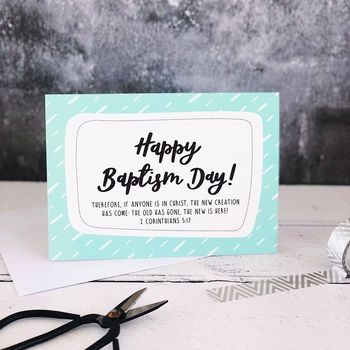 Happy Baptism Day! A6 Card
