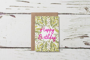 Set Of Five Greetings Cards - general birthday cards