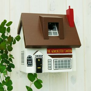 Personalised Pub Bird Box - gardener