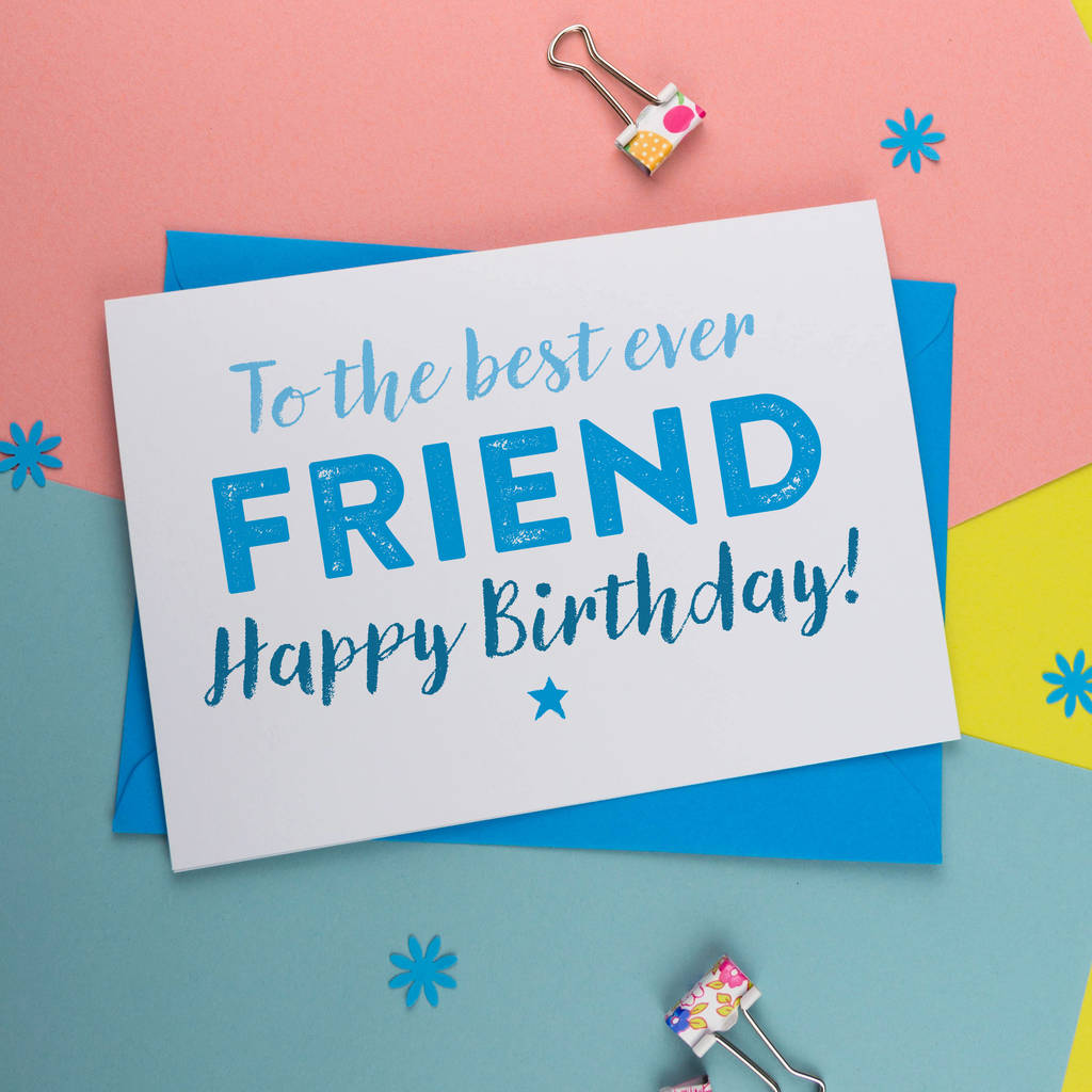 Best Friend Quotes Birthday Cards: Bff Best Friend Birthday Card In Pink And Blue By A Is For