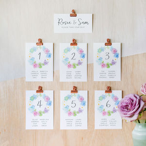 Wonderland Table Plan And Table Number Cards - room decorations
