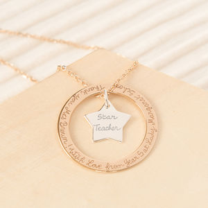 Personalised Eternity Star Necklace