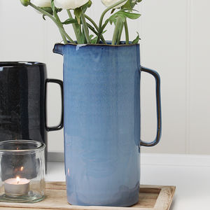 Blue Ombre Distressed Jug