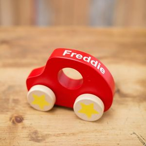 My First Personalised Wooden Car - personalised