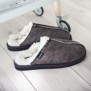 Mens Sheepskin Slipper Mules