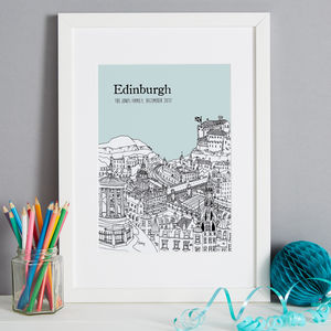 Personalised Edinburgh Print - posters & prints
