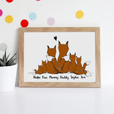 Personalised Fox Family Print - what's new