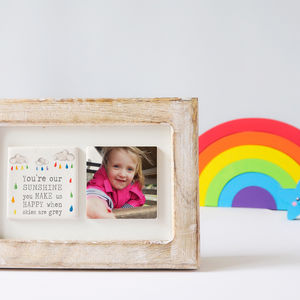 You're Our Sunshine Ceramic Two Tile Photo Frame - photography & portraits