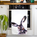 Inky Hare Tea Towel