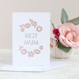 'Best Mum' Card - sentimental cards