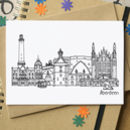 Aberdeen Skyline Landmarks Greetings Card