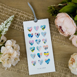 Modern Heart Wallet Wedding Invitation