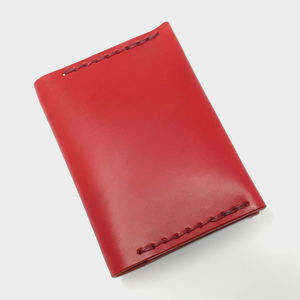 Personalised Leather Credit Card Wallet In Red